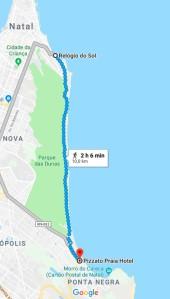 Percurso de Corrida Ponta negra Natal RN