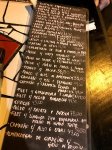 Tapas Restaurante Lousa cardápio