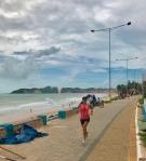 Corrida no calçadão de Ponta Negra Natal beira-mar